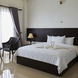 King beds at Junior Suite - Continental Plaza in Vientiane