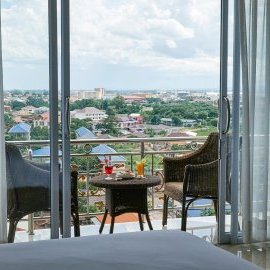 Balcony in Junior Suite - Continental Plaza in Vientiane
